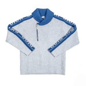Pullover in lana grigia-0