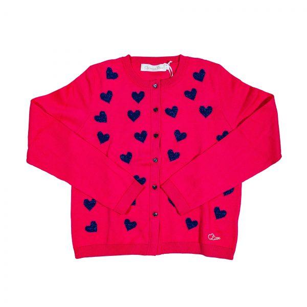 Cardigan in tricot fucsia-0