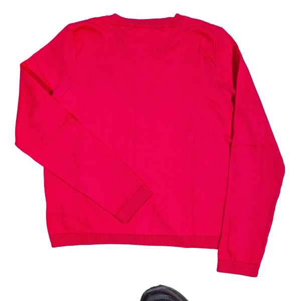 Cardigan in tricot fucsia-589