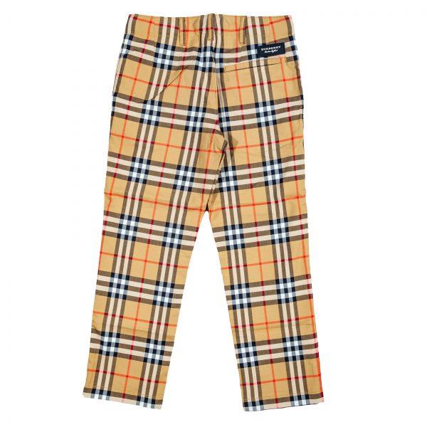 Pantaloni in cotone check foderati-606