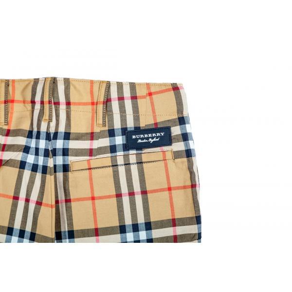 Pantaloni in cotone check foderati-607