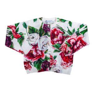 Cardigan in maglia stampata Peonie-0