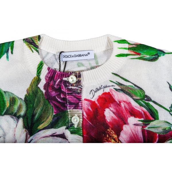 Cardigan in maglia stampata Peonie-404