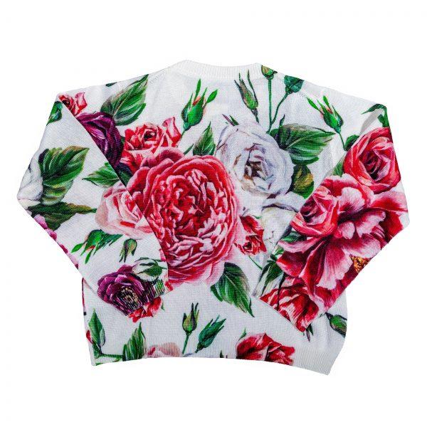 Cardigan in maglia stampata Peonie-403