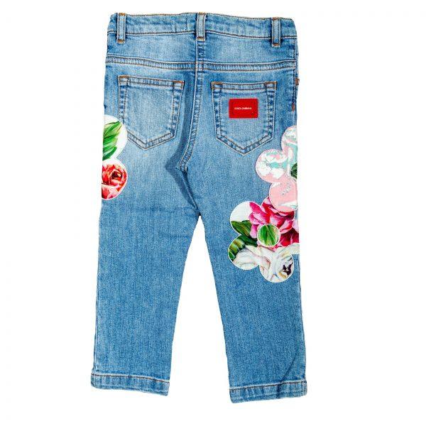 Jeans elasticizzato impreziosito da ricami floreali Peonie-423
