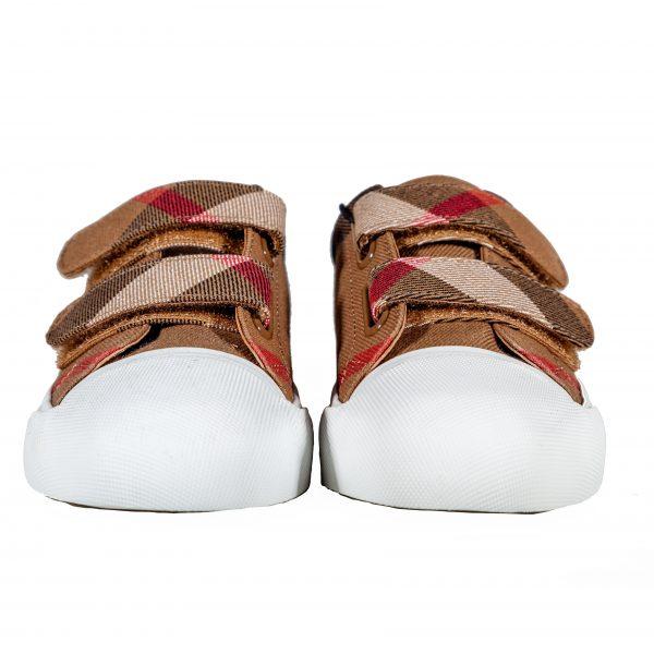 Sneakers in tessuto e pelle-0