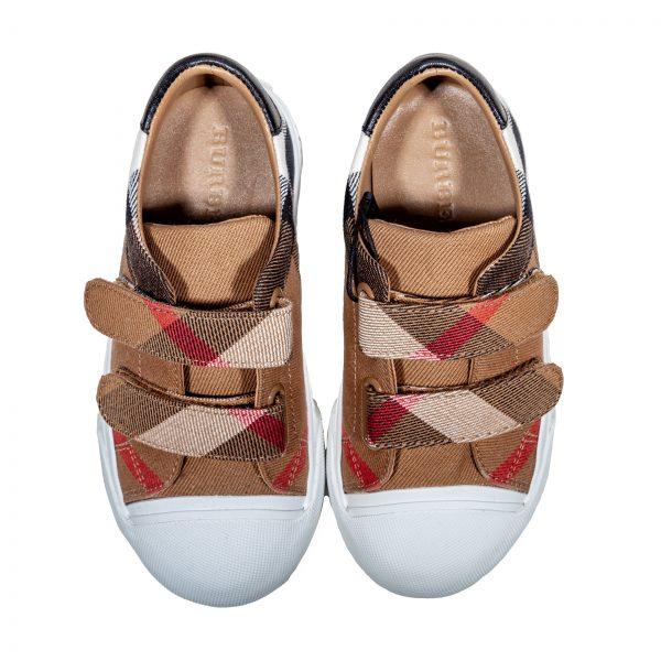 Sneakers in tessuto e pelle-557